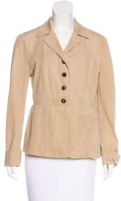 Prada Long Sleeve Notch-Lapel Jacket