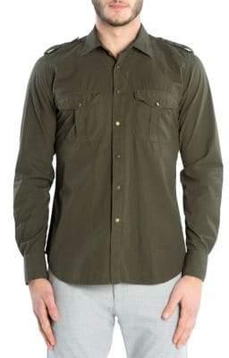 Eleventy Western Military Sport Shirt