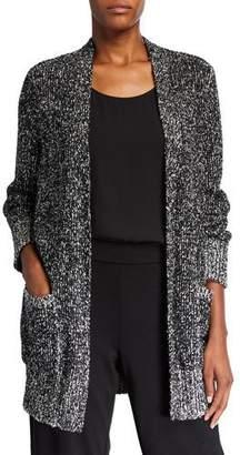 Eileen Fisher Peruvian Cotton Boucle Long Cardigan