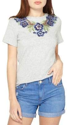 Dorothy Perkins Embroidered Cotton Tee