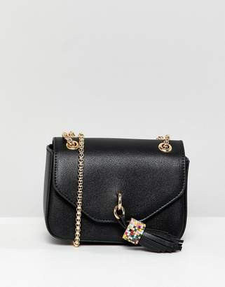 Dune Evening Bag With Tassel Detail and Chain Strap