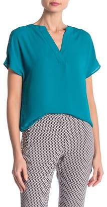 Adrianna Papell V-Neck Cap Sleeve Blouse