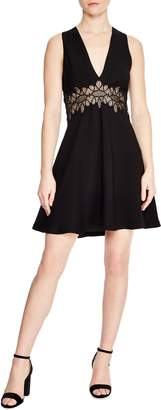 Sandro Elena Lace Inset Dress