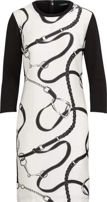 Ralph Lauren Silk-Printed Ponte Dress