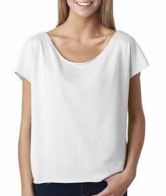 Next Level Apparel Next Level T Shirt 6960 Ladies' The Terry Dolman Plain