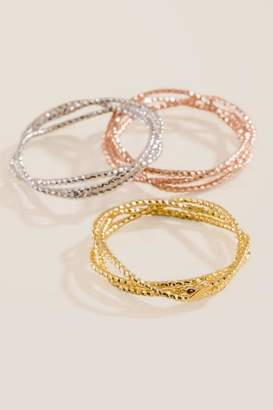 francesca's Amelie Stacking Ring Set - Mixed Plating