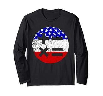 American Flag Math Teacher Shirt - Math Symbols T-Shirt