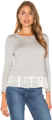 Rebecca Taylor Eyelet Terry Top $250 thestylecure.com