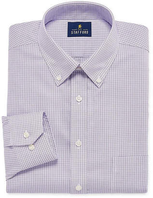 STAFFORD Stafford Executive Non-Iron Cotton Pinpoint Oxford Big And Tall Mens Button Down Collar Long Sleeve Dress Shirt