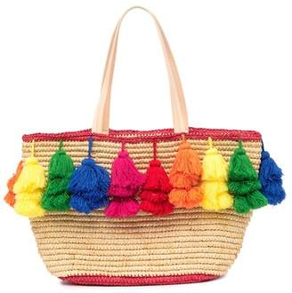 Alice + Olivia Sally Rainbow Pompom Tote Bag