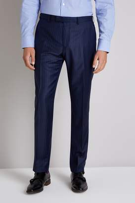 Ermenegildo Zegna Cloth Tailored Fit Navy Broken Stripe Trousers