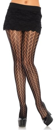 Women's Plaited lace tights, One Size