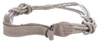 Donna Karan Braided Leather Belt