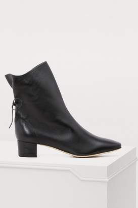 Solovière Princess nappa leather ankle boots