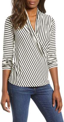Gibson Surplice Stripe Top