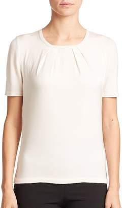 Carolina Herrera Women's Day Collection Pintuck Cashmere/Silk Top