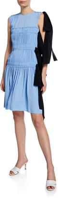 No.21 No. 21 Shirred Sleeveless Dress with Ties