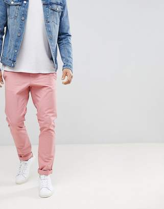 Benetton Slim Fit Chinos in Pink