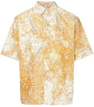 MSGM map print shirt