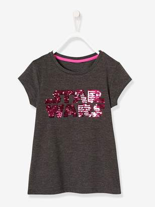 Vertbaudet Girls' Star Wars T-Shirt with Reversible Sequins