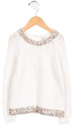 Billieblush Girls' Sequined Knit Sweater
