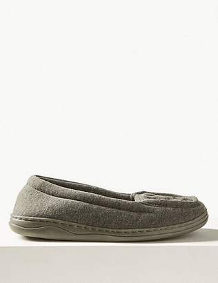 Marks and Spencer Heart Embroidered Moccasin Slippers