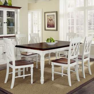 Laurel Foundry Modern Farmhouse Giulia 7 Piece Wood Base Dining Set
