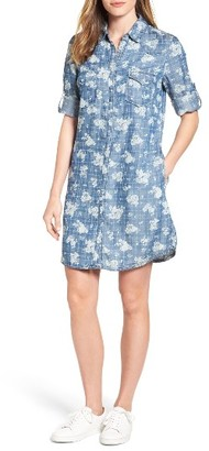Women's Kut From The Kloth Ruthy Print Chambray Shirtdress $98 thestylecure.com