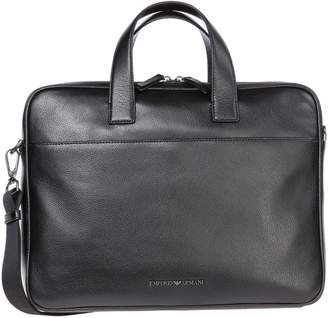 d05303b5b2fb Emporio Armani Briefcase Attache Case Laptop Pc Bag Leather