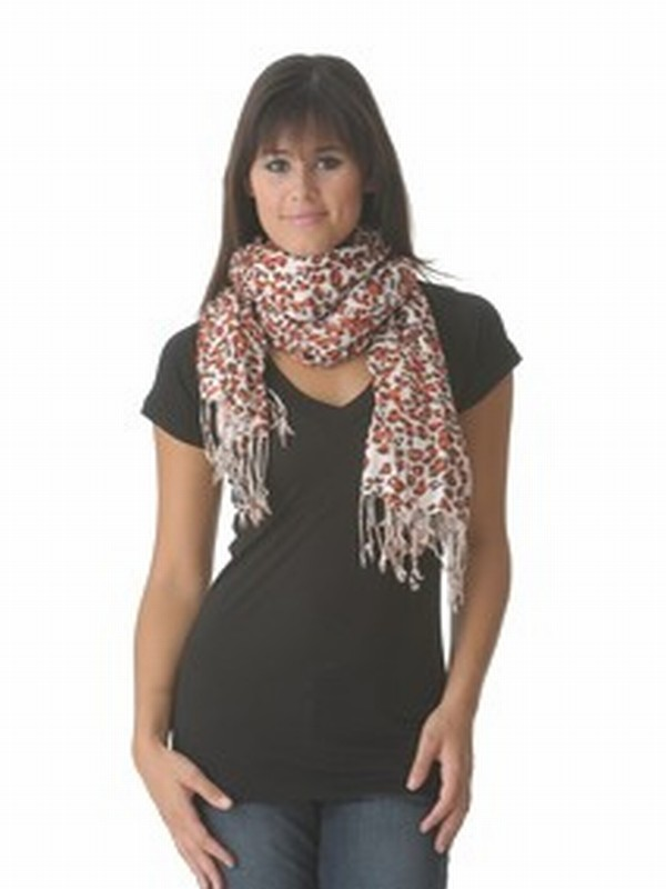 Tolani Animal Print Scarf as seen on Jessica Alba