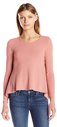 KENDALL + KYLIE Women's Side Draped L/s Sweater