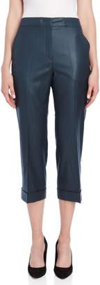Jil Sander Glossy Cuffed Cropped Pants
