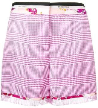 Emilio Pucci plaid frayed shorts