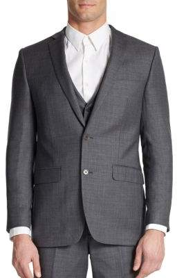 Tallia Orange Slim-Fit Two-Button Wool Suit Jacket