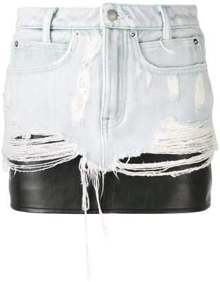 Alexander Wang layered denim skirt