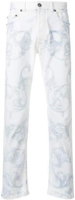 Versace baroque motif jeans