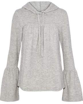 Walter W118 By Baker Carina Cotton-Blend Fleece Hooded Sweatshirt