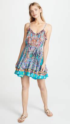 Camilla Button Down Frill Mini Dress