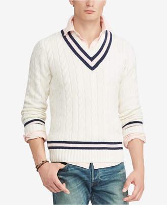 Polo Ralph Lauren Men's Pink Pony Cricket Sweater