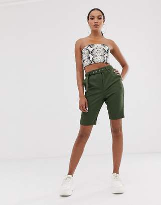 Asos Design DESIGN city shorts with belt