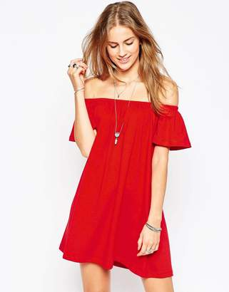 ASOS Off Shoulder Mini Dress $23 thestylecure.com