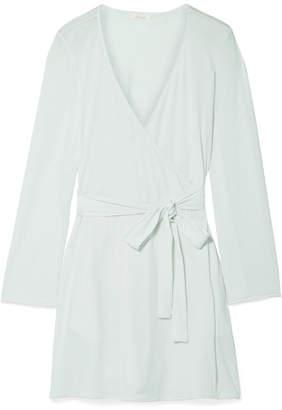 Skin - Karin Organic Pima Cotton-jersey Robe - Mint