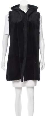 Avant Toi Fur-Paneled Wool-Blend Vest w/ Tags