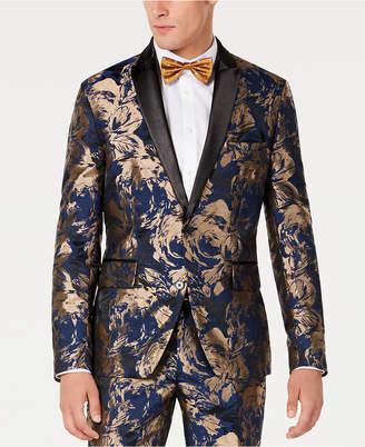 INC International Concepts I.n.c. Men Slim-Fit Gold Foil Leaf Blazer