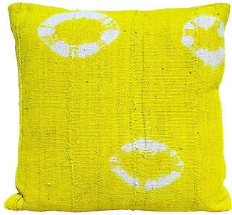 One Kings Lane Vintage Bright Yellow Mud Cloth Pillow