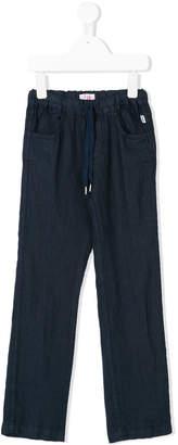 Il Gufo drawstring straight trousers