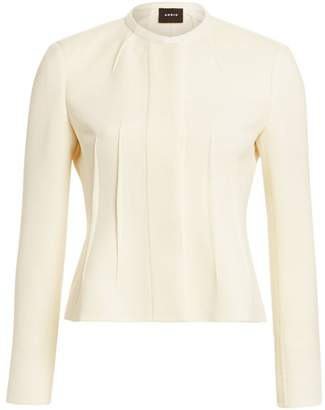 Akris Wool Crepe Darted Jacket