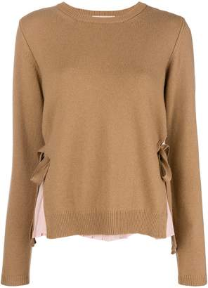 Twin-Set pleated layer jumper