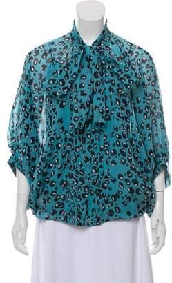 Diane von Furstenberg Joanne Silk Brocade Top