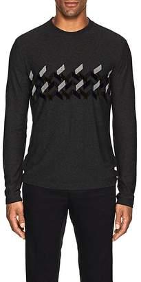 Giorgio Armani Men's Chenille-Trimmed Sweater